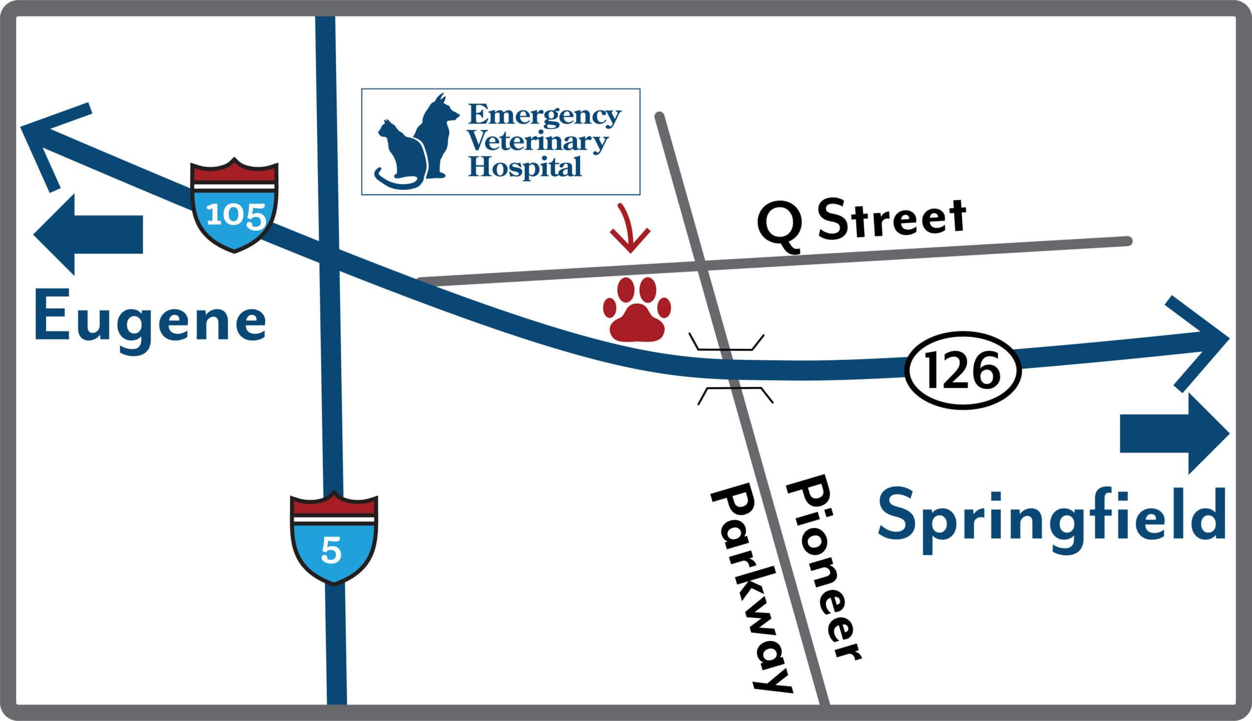 Emergency Veterinary Hospital map